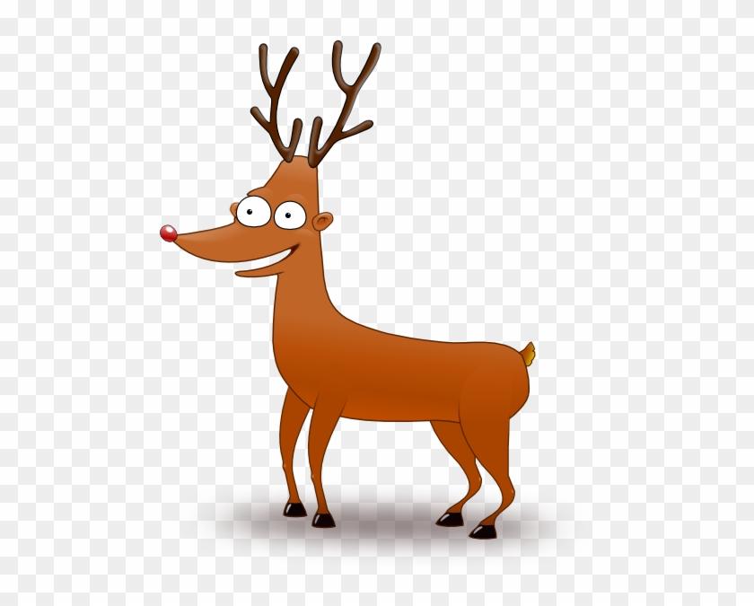 Cartoon Reindeer Clip Art At Clker Com Vector Clip - Reindeer .png #60174