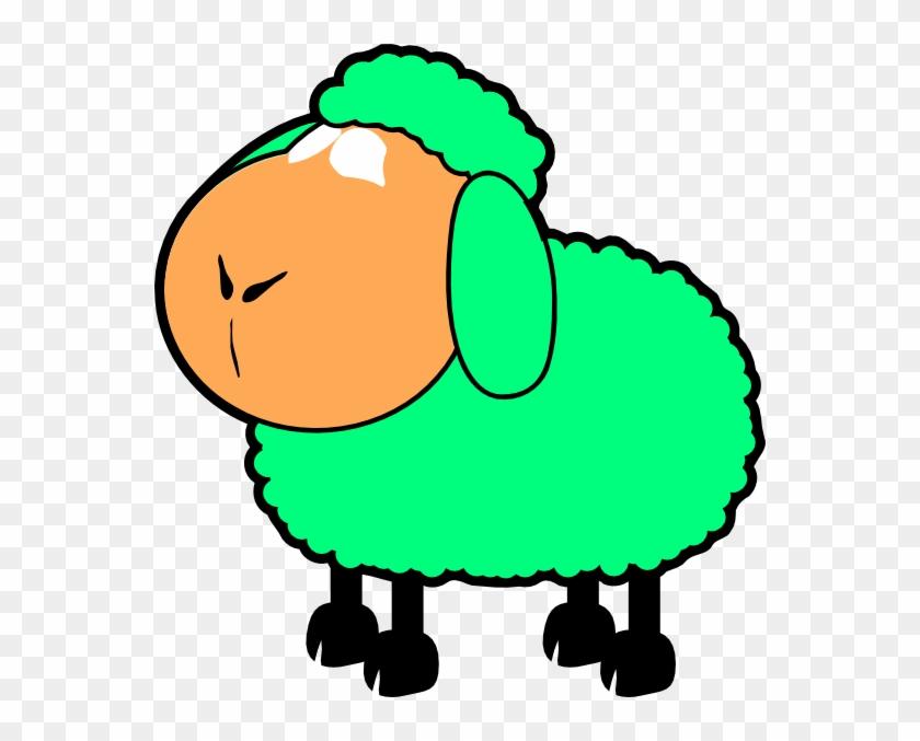 Green Sheep Clipart #60230