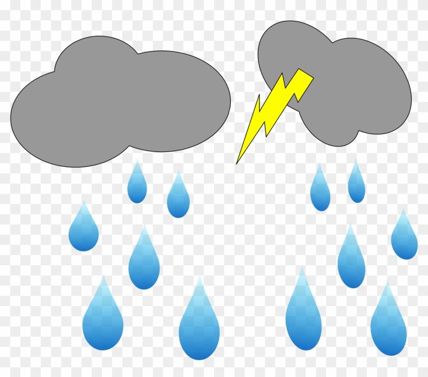 Lightning Rain Cloud Blog Clipart Clip - Rain Animation Clipart #60382