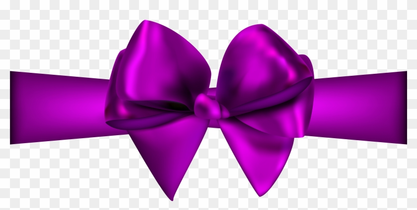 Purple Ribbon With Bow Png Clip Art - Red Ribbon Png #60403