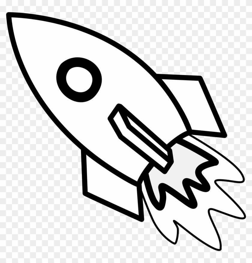 Rocketship Free Cartoon Rocket Ship Clip Art Free Clipart - Clip Art Black And White Rocket #60420