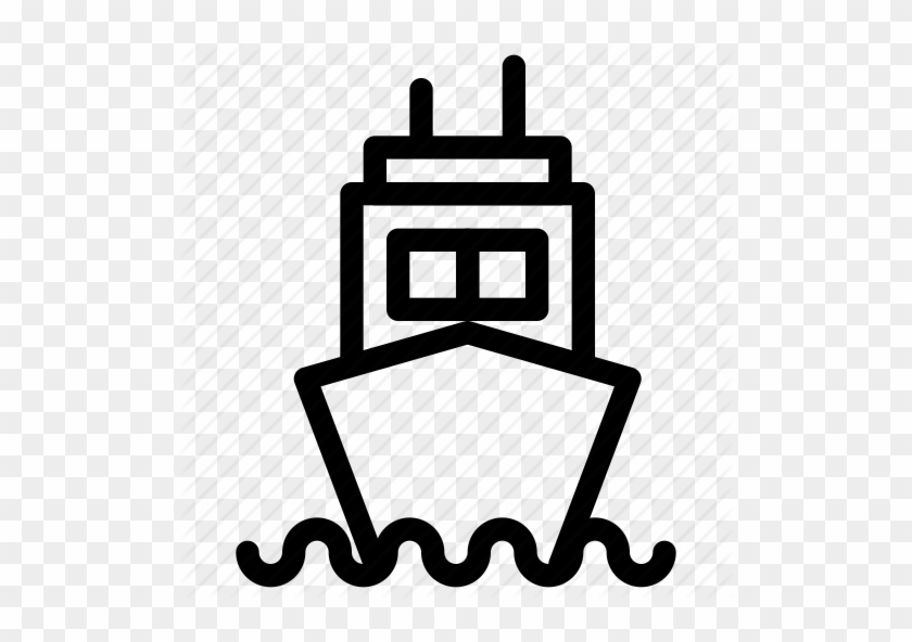 Cruise Ship Outline - Ship Icon Outline #60421