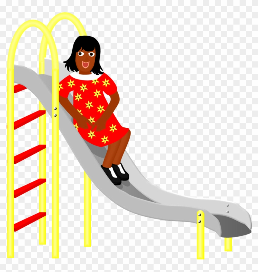 """Fun, """"un"""" Word Family, Girl On A Slide, Play, Playground - Boy On A Slide #60442"""