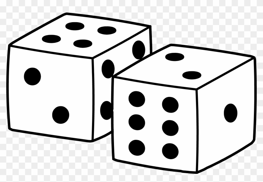 Dice Clip Art Things That Use Numbers Along With Red - Clip Art Black And White Dice #60471
