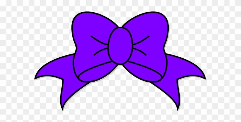 Purple Ribbon Clipart - Purple Bow Clipart #60565