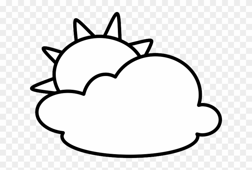 Weather, Sunny, Weather Forecast, Symbol - Weather Icons Clip Art Black And White #60599