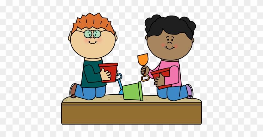 Kids In Sandbox Clip Art - Sandbox Clip Art #60600