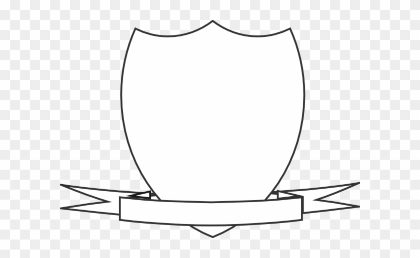Shield With Banner Transparent #60602