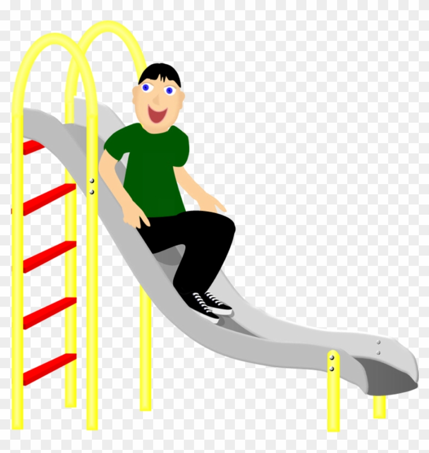 """Fun, """"un"""" Word Family, Boy On A Slide, Play, Playground - Slide On A Slide #60634"""