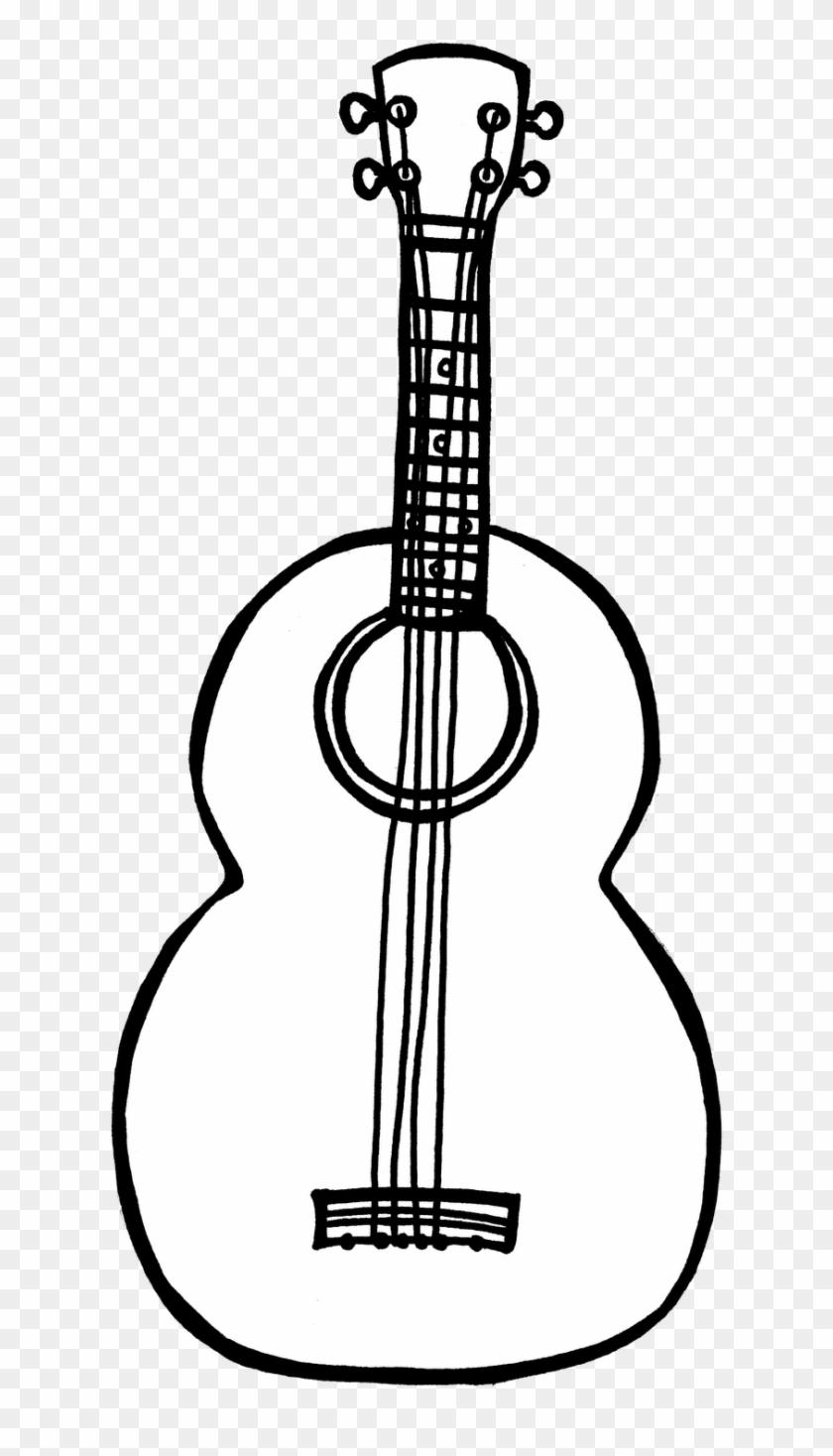 Sense - Of - Hearing - Clipart - Ukelele Clipart Black And White #60649