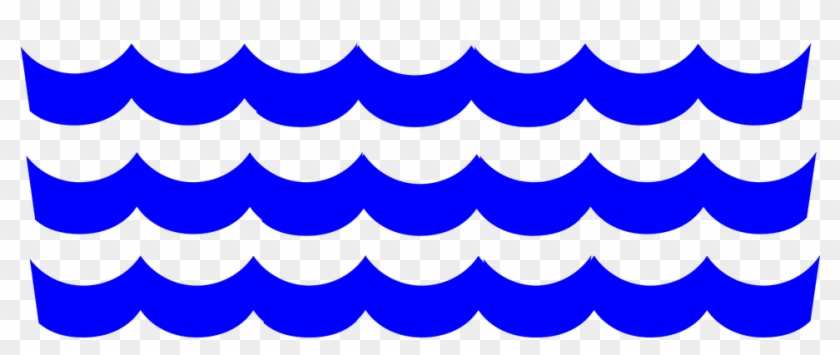 Waves Blue Pattern Water - Clipart Water Waves Transparent Background #60654