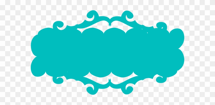 Teal Swirly Banner Clip Art At Clker - Pink Ribbon Banner Png #60713