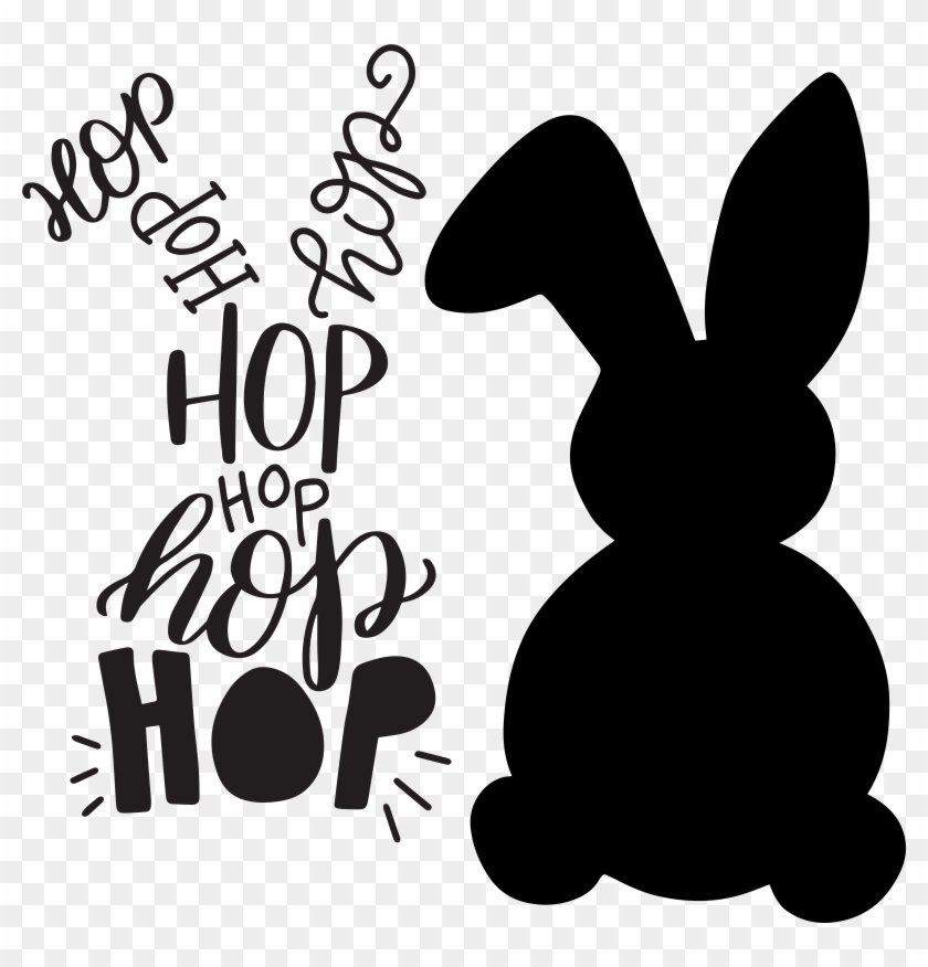Hand Lettered Typographic Easter Bunny Free Svg Cut - Easter Bunny Svg Free #60752