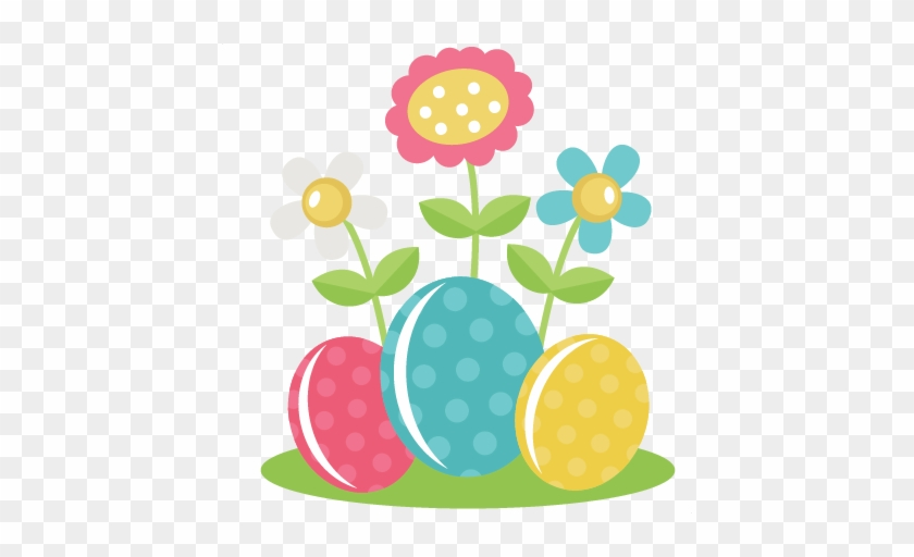 Easter Eggs With Flowers Svg Files For Scrapbooking - Easter Flower Clipart Png #60783
