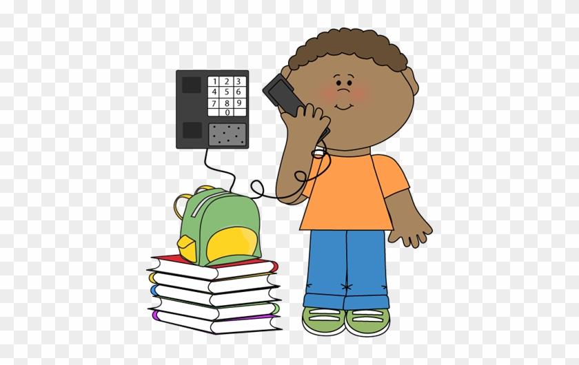 Scrappin' Doodles Clip Art Transparent Line - Boy On The Phone Clip Art #60902
