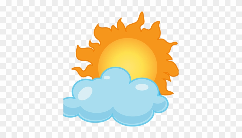 Cloudy Weather Clipart - Happy Sun #60936