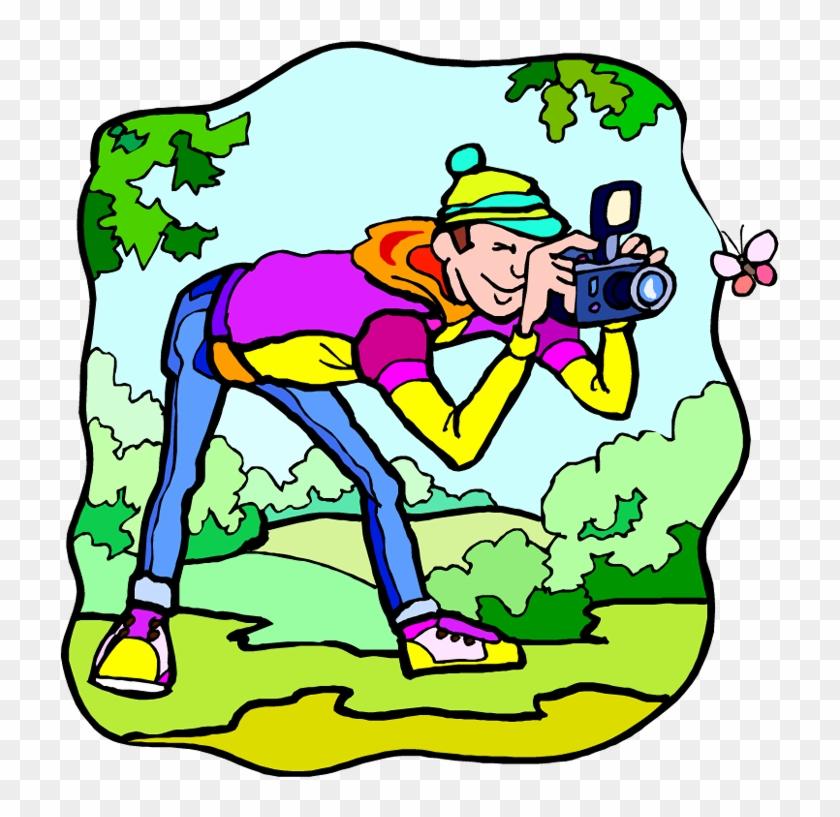 Free Outdoor Activities Clipart - Taking Photos Clip Art #60946