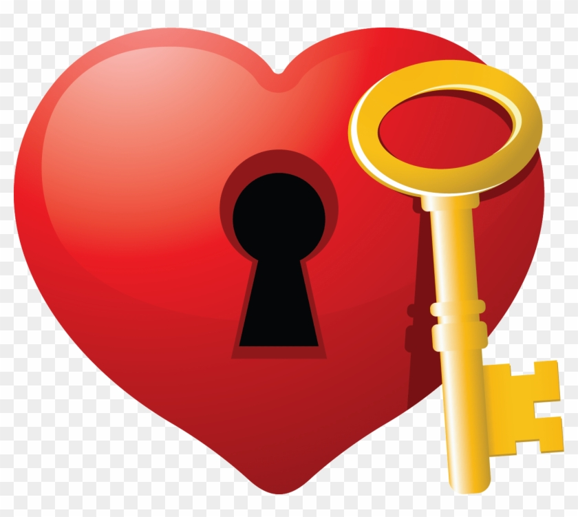 Happy Anniversary Clip Art - Heart With Key Clipart #60955