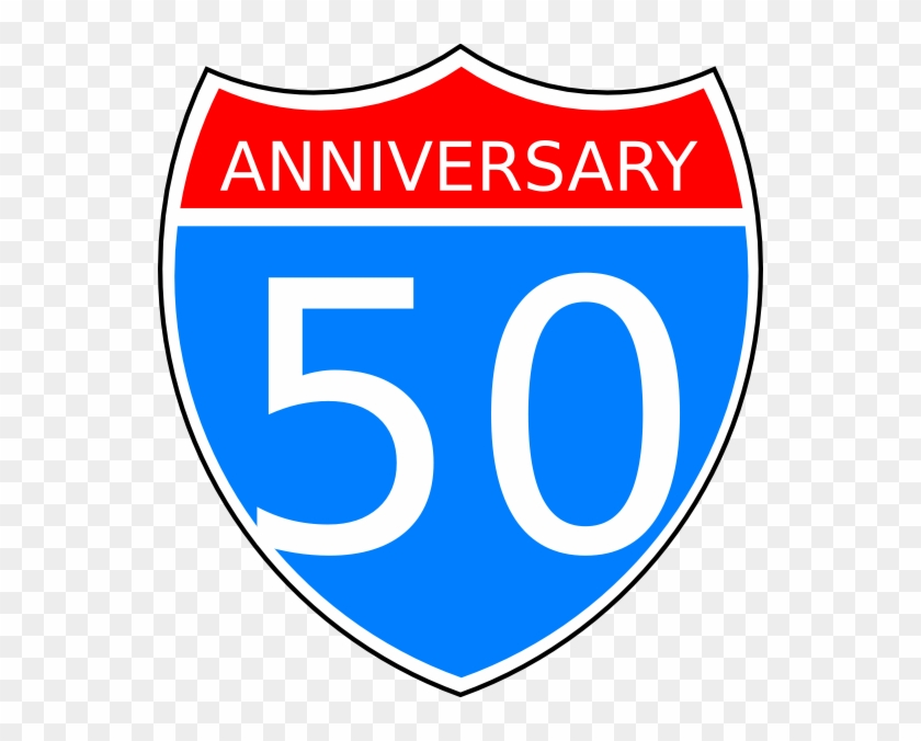 50th Anniversary Clip Art At Clker - Interstate Highway Sign #60982