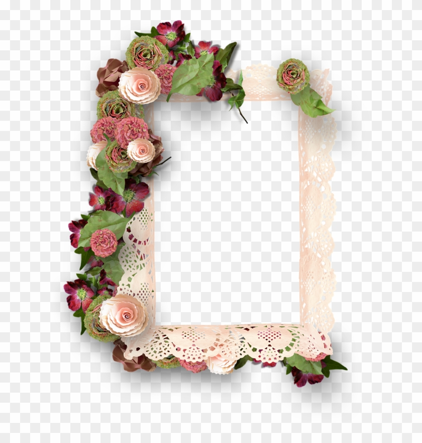Printable Frames, Flower Frame, Scrapbooking Flowers, - Decorative Frames With Flowers #308073