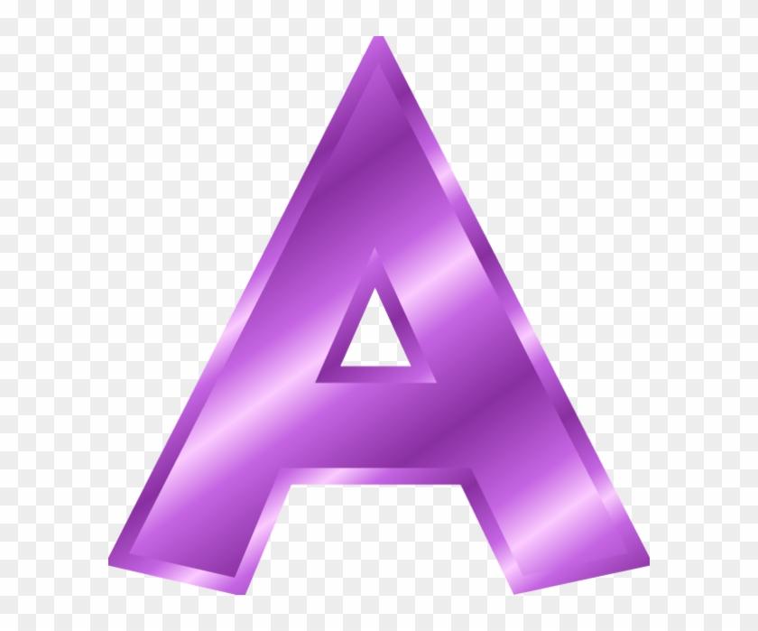 Letter A Clipart Purple - Alphabet Letters Clip Art #308193