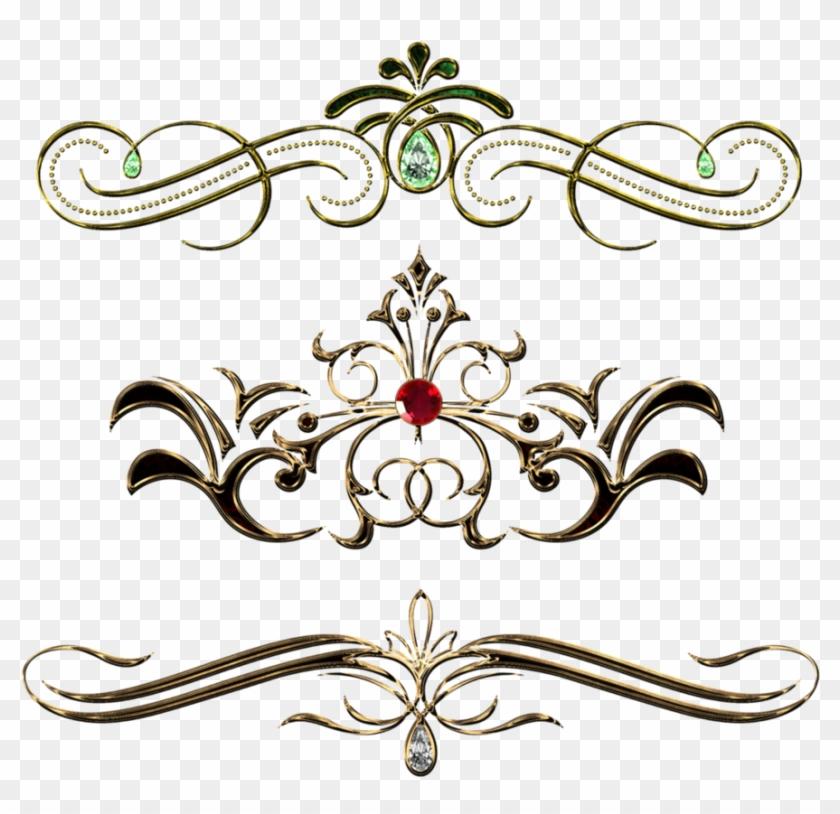 Fancy Gold Page Borders Download - Vintage Pattern Design Png #308318