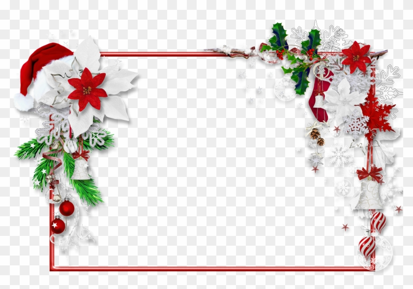 Christmas Frame For Pictures - Christmas Border Clipart Png #308423