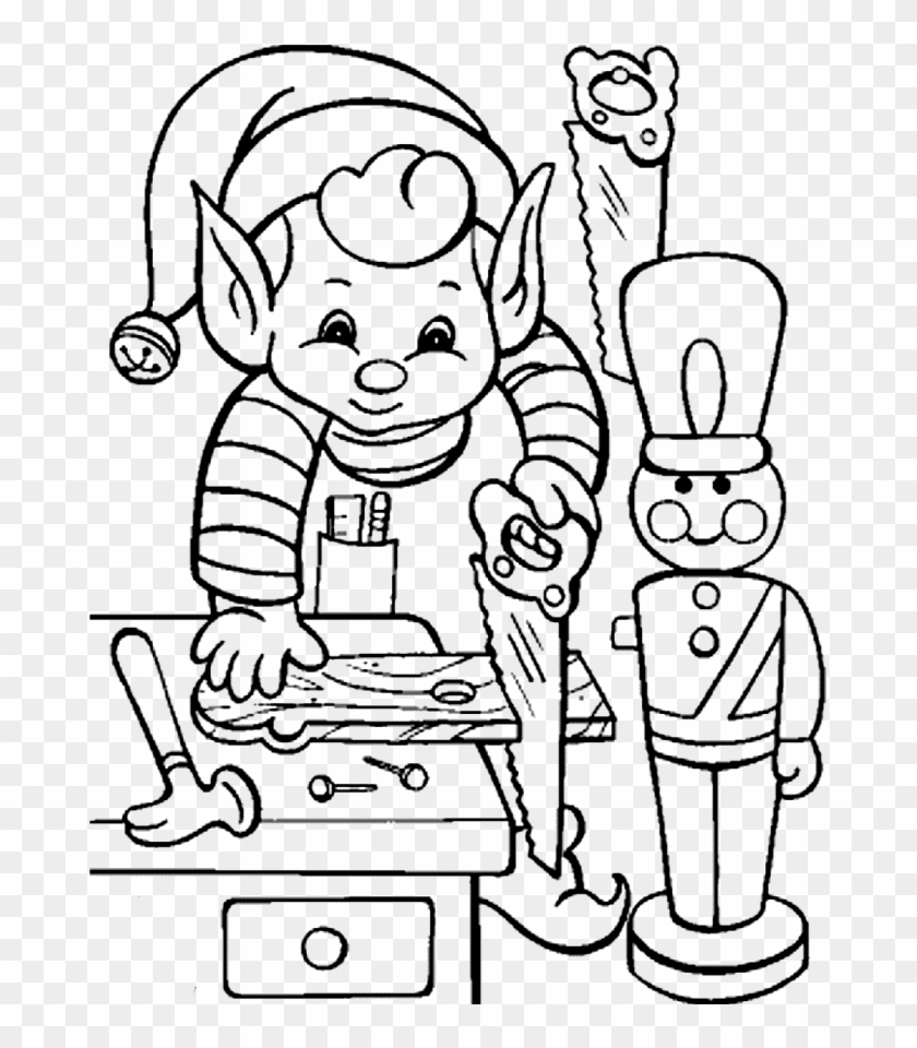 Printable Activity Elves In Christmas Coloring Pages - Elf Coloring ...