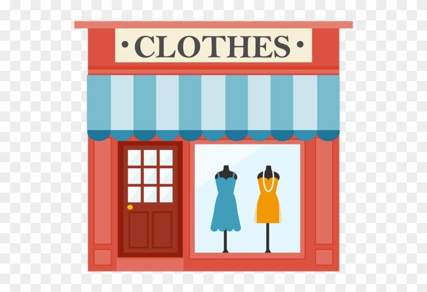 Places Clipart Restaurant Building - Clothes Shop #308816