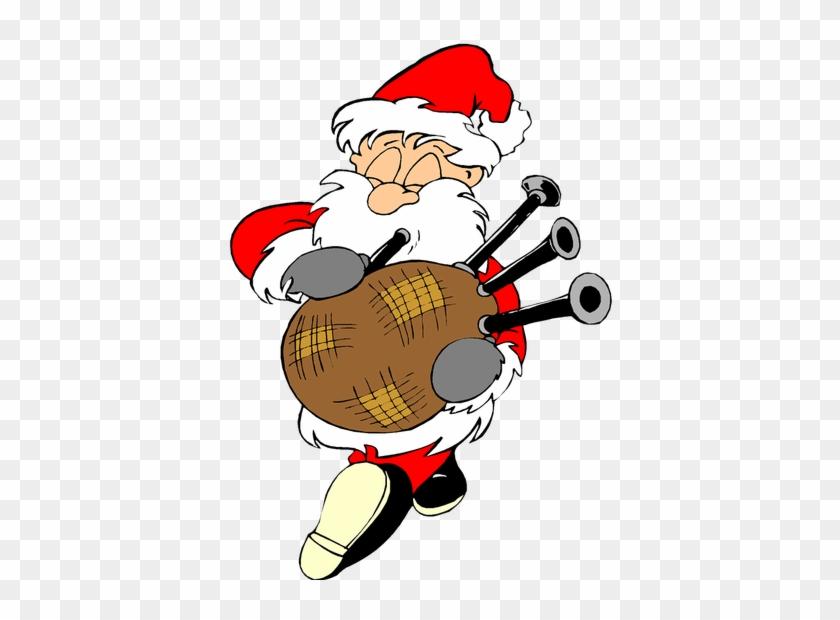 Scottish Funny Santa Christmas Image Reindeer Free - Eleven Day Of Christmas #308872