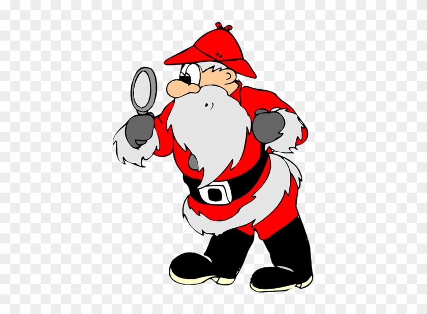Funny Santa Christmas Image Reindeer Free Public Domain - Santa Detective #308897