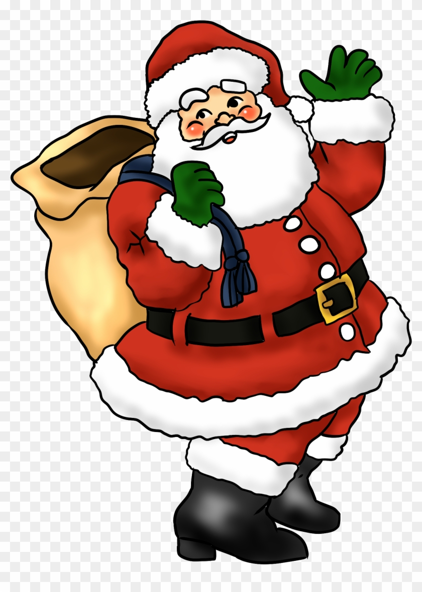 free lovely santa claus clip art whimsical christmas easy coloring book for adults