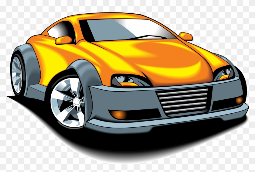 Download Free Printable Clipart And Coloring Pages - Vector Cartoon Sport  Car - Free Transparent PNG Clipart Images Download