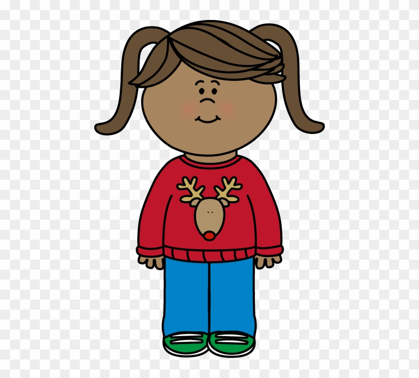 Christmas Clipart Clothes - Wearing Sweater Clipart #309321