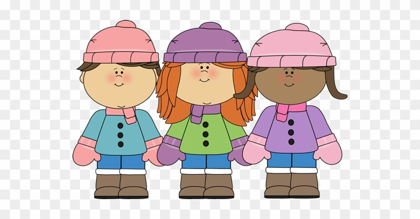 Cap Clipart Winter Jacket - Kids In Winter Clothes Clipart #309337