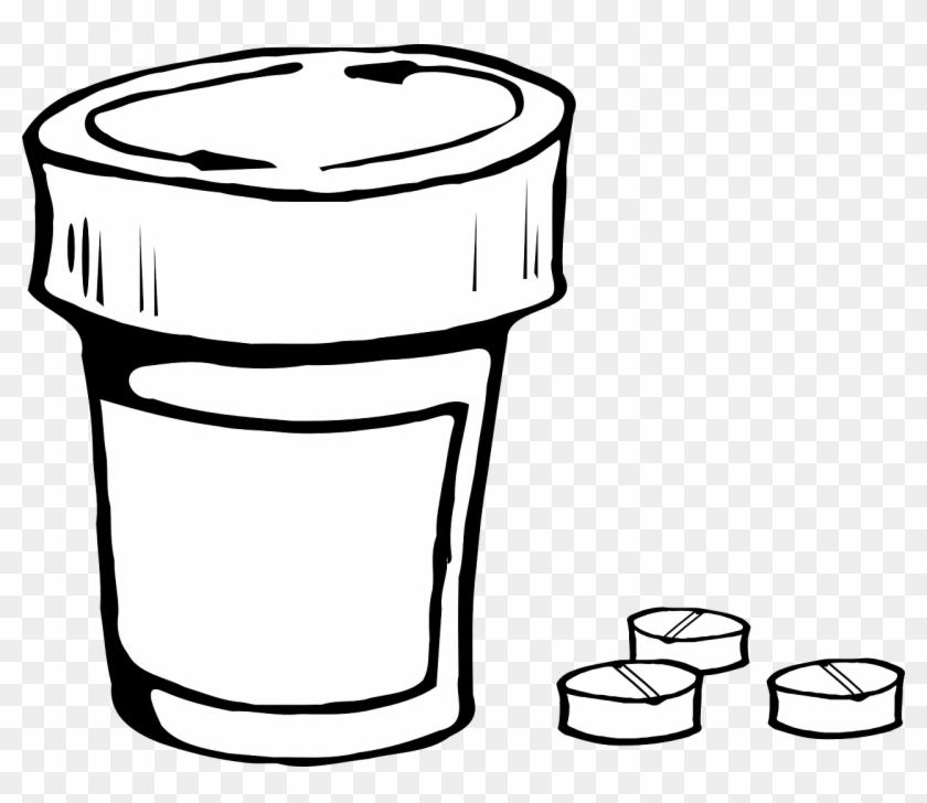 Pills And Bottle Icon Size Clip Art - Pill Bottle Clip Art #309482
