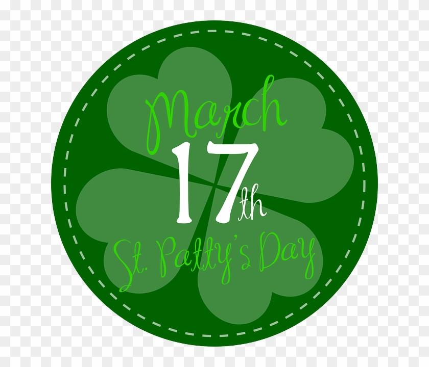 March Clip Art - St Patricks Day Shamrock Stamp Greeting Cards #309603