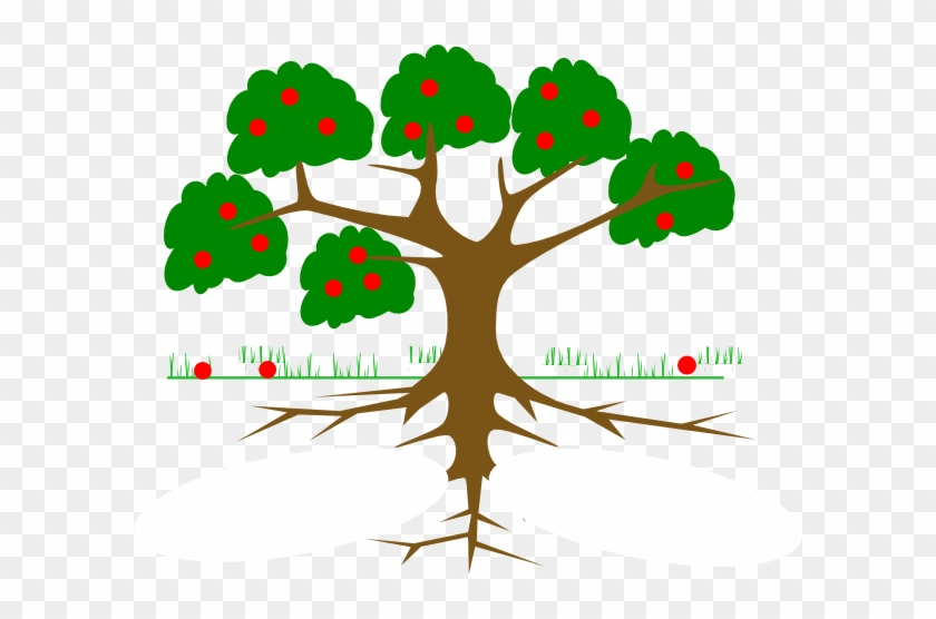 Majestic Looking Tree With Roots Clipart Three Clip - Tree Clipart With Roots #309616