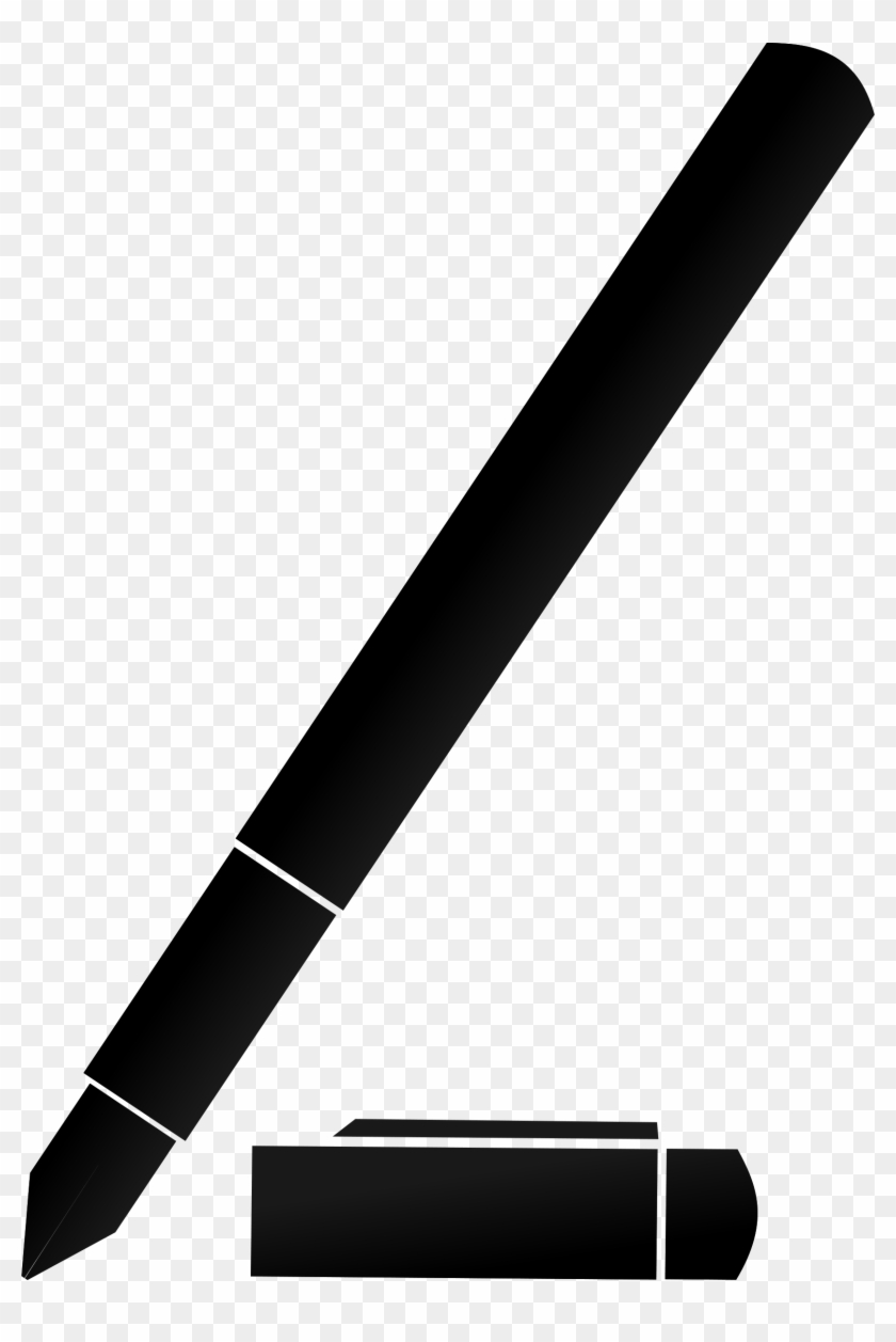 how to set use fountain pen svg vector - black pen clipart - free