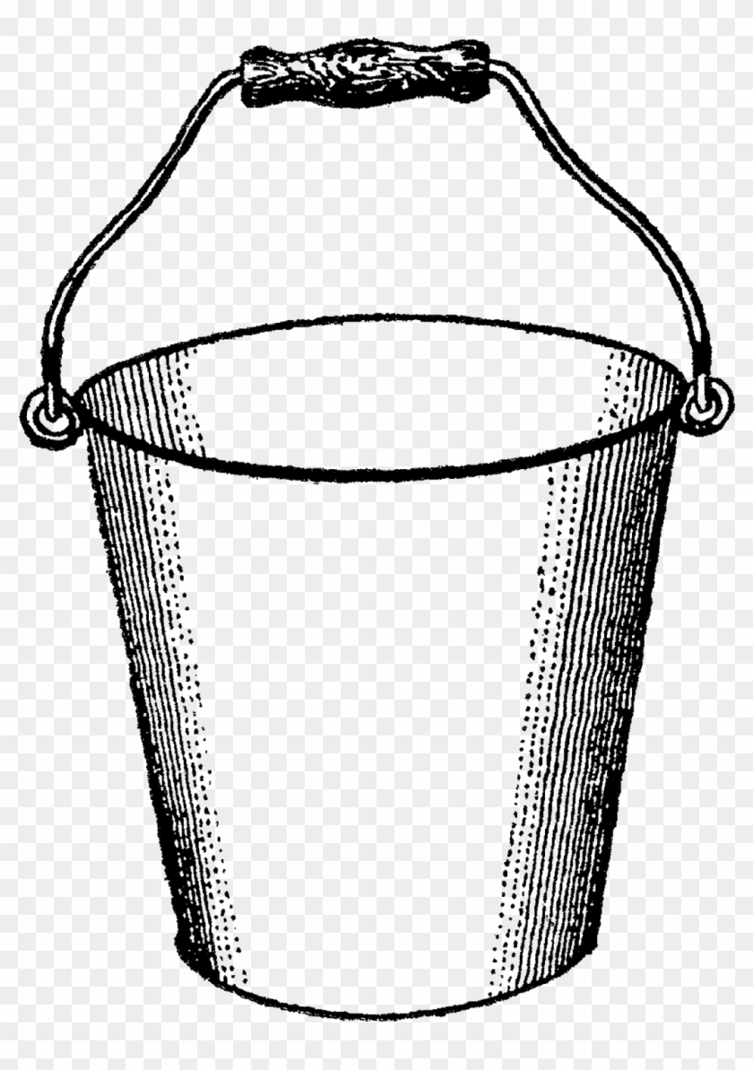 This Is A Simple, Fun Digital Bucket Clip Art I Created - Black And White Clip Art Of Bucket #310252