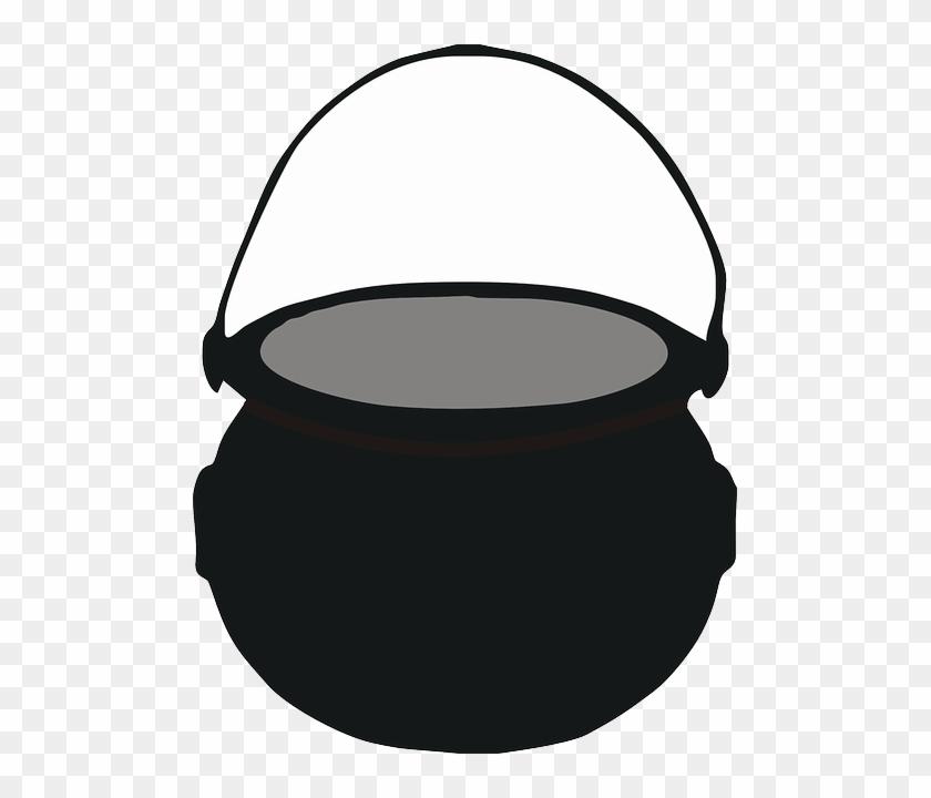Boiling Cauldron, Pot, Cooking, Water, Boiling - Heksenketel Clipart #310510