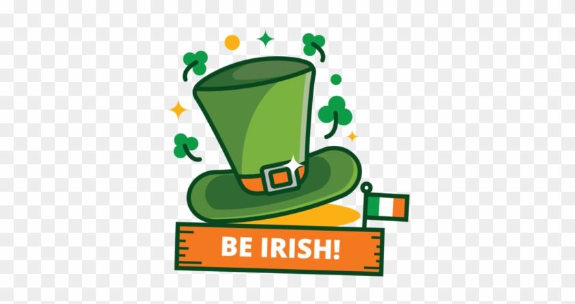 St Patrick's Day Green Hat Sticker - Saint Patrick's Day #310560