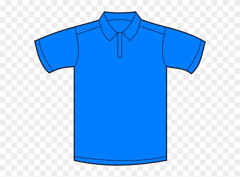 Polo Shirt Illustration Clipart - Blue Polo Shirt Cartoon ...