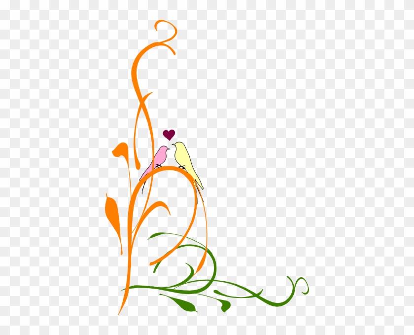 Love Birds On Branch Clip Art Download - Purple Love Birds Clipart #310665