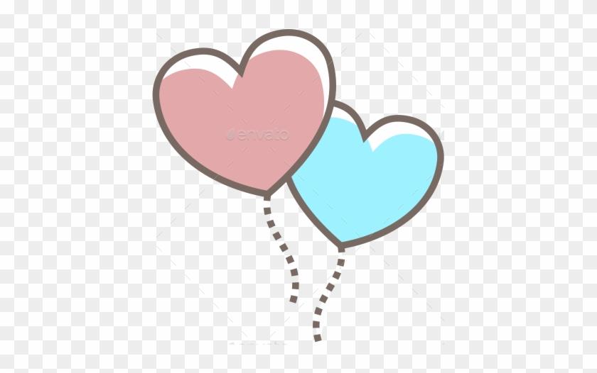 Decor Heart Key Heart Kiss 2 Heart Lock Heart Love - Transparent Heart Balloon Png #310733