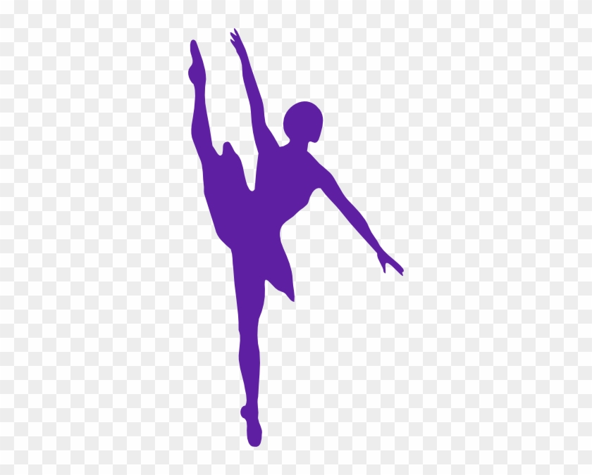 Ballerina Clipart Purple - Ballet Dancer Silhouette #310943