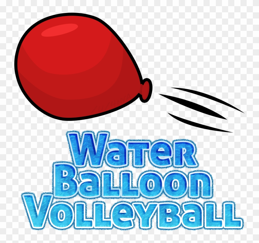Water Balloon Volleyball Logo - Water Balloon Volleyball Clip Art #311066