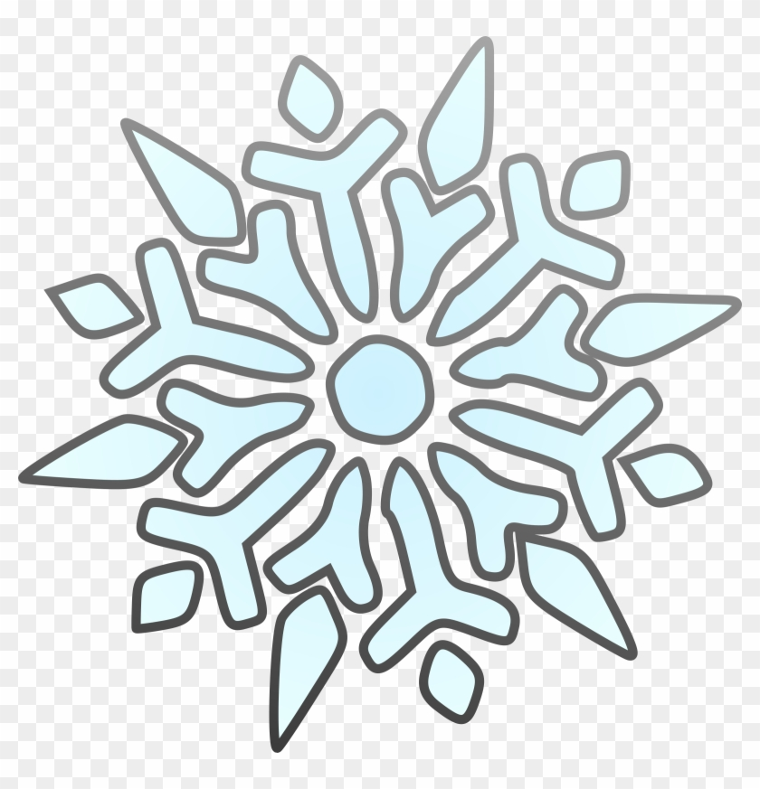 Erik Single Snowflake Clip Art Free Vector - Snowflake Clip Art #311252