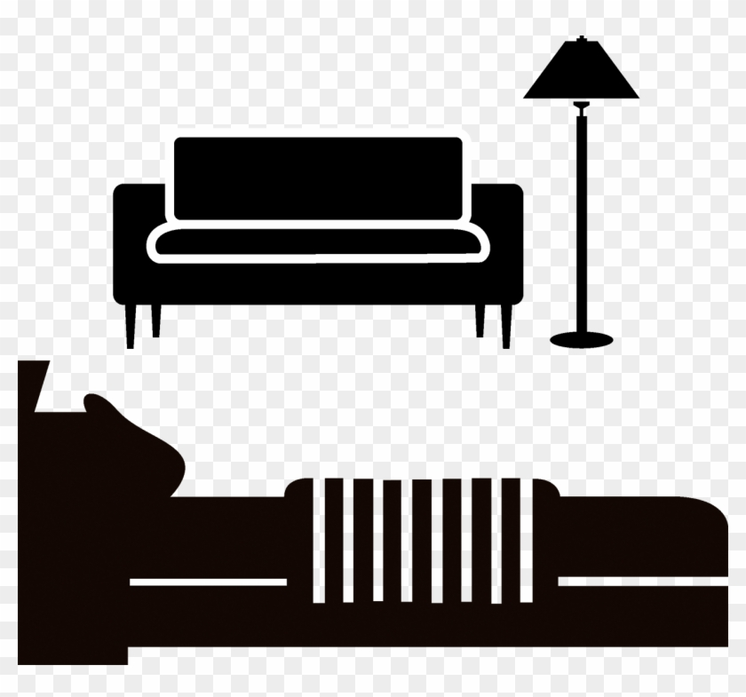 Couch Bed Silhouette Furniture - Furniture Silhouette #311277