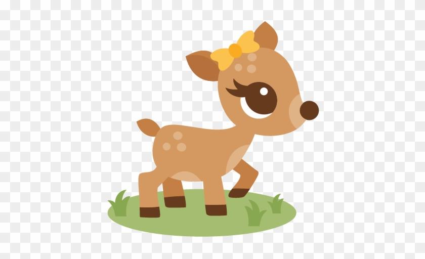 Girl Deer Svg Scrapbook Cut File Cute Clipart Files - Baby Deer Clip Art #311287